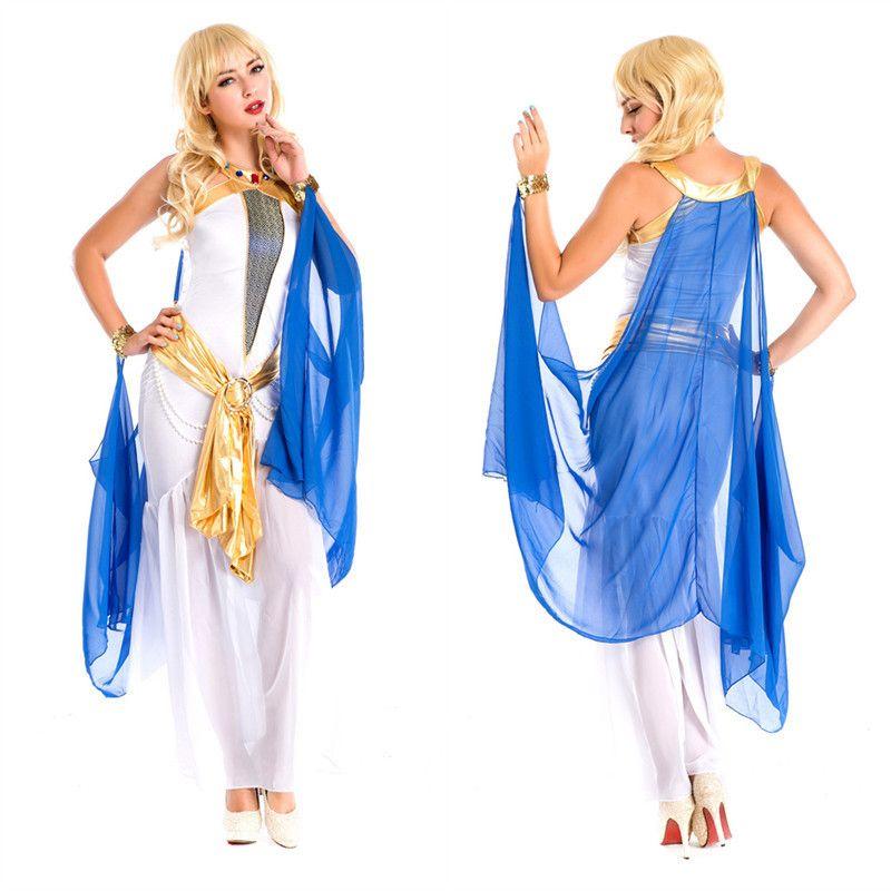 Women\'s White Sexy Indian Egyptian Goddess Arab Princess Dress ...