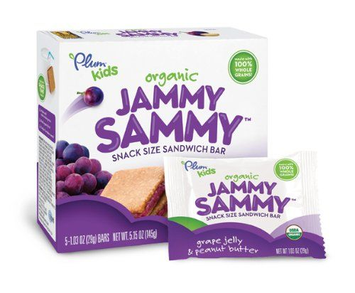 Plum Kids Organic Jammy Sammy, Grape Jelly and Peanut Butter, 5-Count (Pack of 6) - http://goodvibeorganics.com/plum-kids-organic-jammy-sammy-grape-jelly-and-peanut-butter-5-count-pack-of-6/