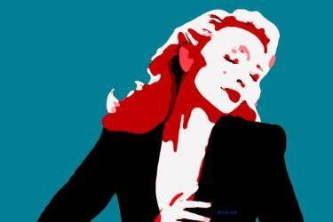 "Saatchi Art Artist ACQUA LUNA; Painting, ""8-CELEBRIDADES. Cate Blanchett."" #art"