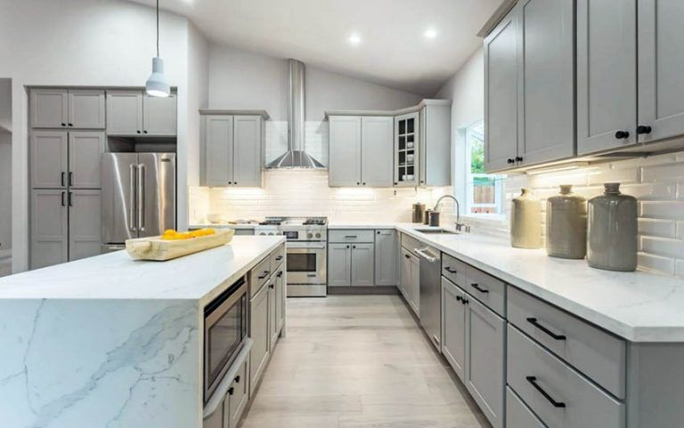 Best Kitchen Colors With Gray Cabinets Grey Cabinets Kitchen 400 x 300