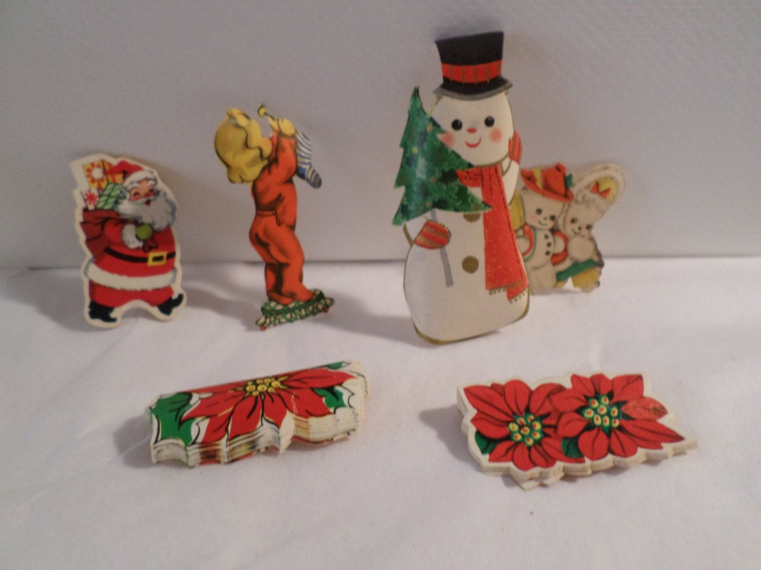 Vintage christmas decorations 1950s - Vintage Hallmark Hallmark Stickers Hallmark Seals 1950s Christmas Christmas Decorations Snowman Stickers Santa Paper Stickers