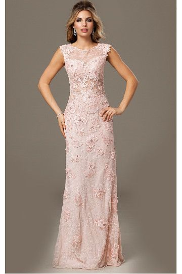 2015 Charming Cap Sleeves Floor-length Empire Evening Dresses