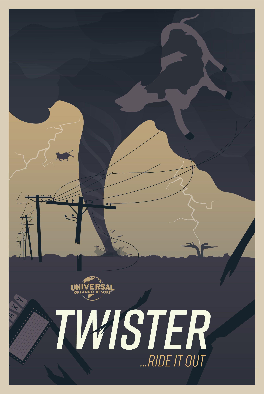 Retro Twister poster