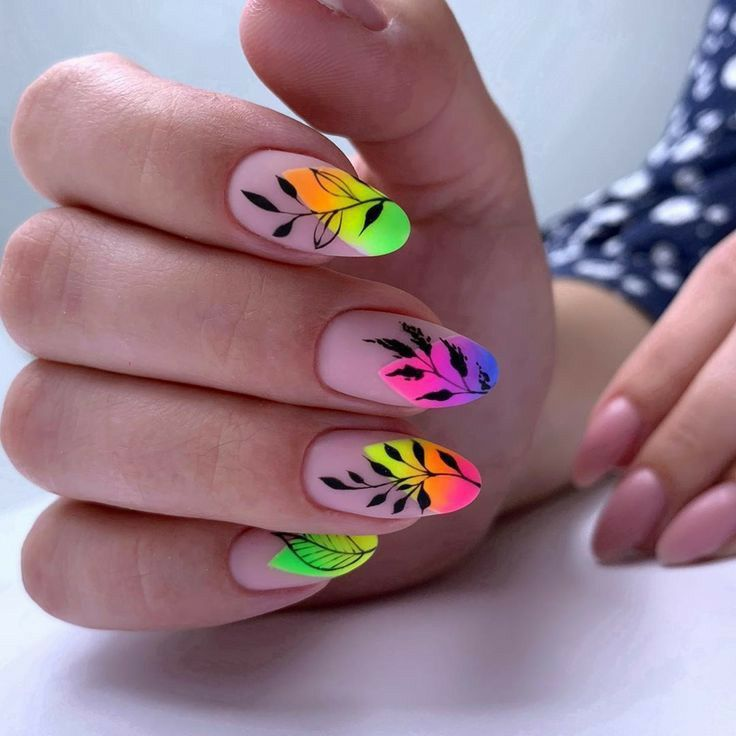 Rainbow Nails discovered by Irene on We Heart It