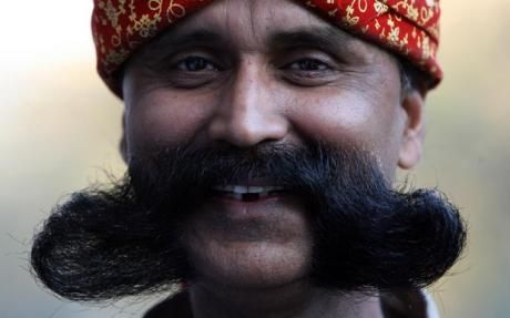 The prize for the softest, best conditioned moustache goes to... this man! #movember #moustache