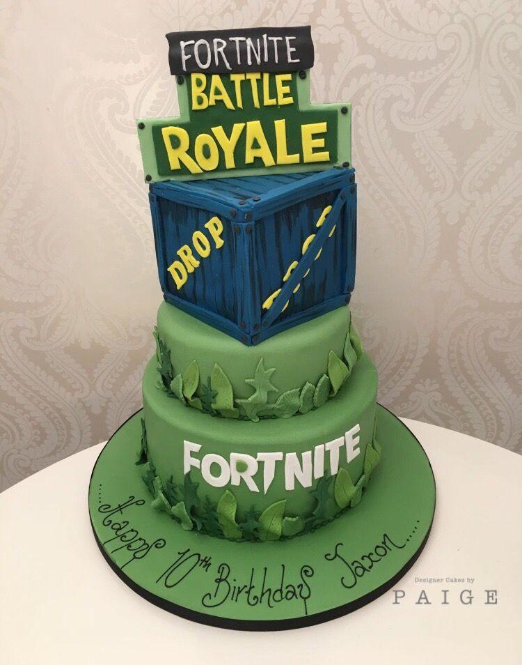 3 Tier Fortnite Cake For Boy S Birthday Birthday Cake Kids