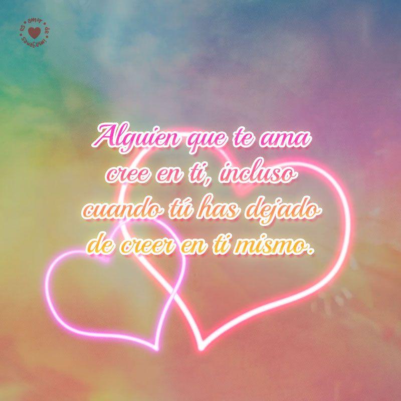 Románticos Corazones Iluminados Con Bonita Frase De Amor