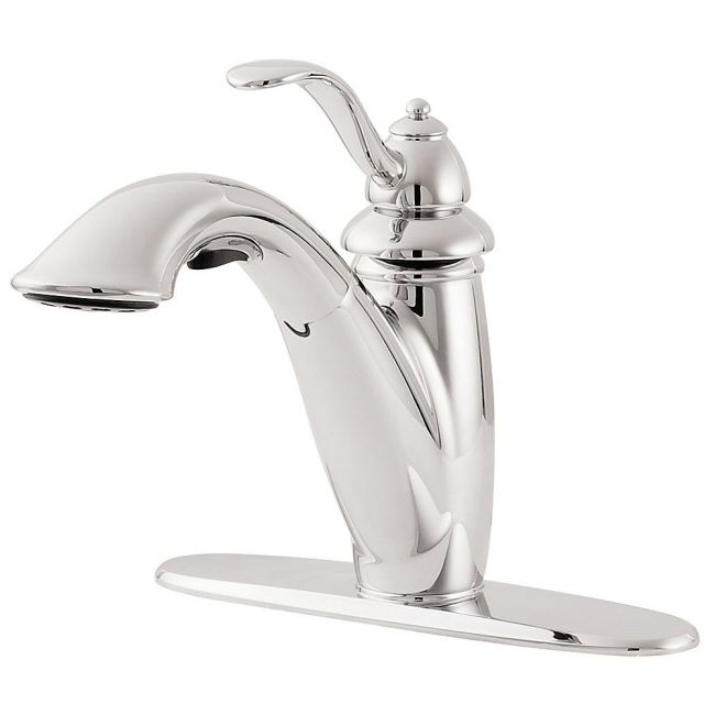 Pfister Marielle Series Kitchen Faucet Single Handle Pull Out On