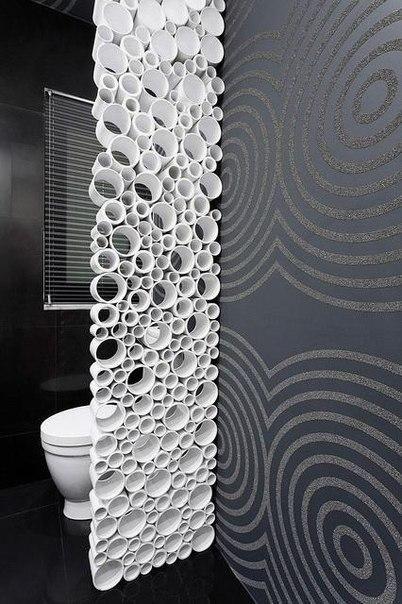 trennwand aus kunststoff r hren bastelarbeiten pinterest kunststoff rohre und selber machen. Black Bedroom Furniture Sets. Home Design Ideas