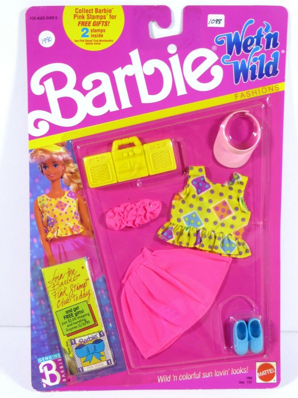 *E559 NIB BARBIE DOLL 1989 WET /'N WILD FASHION 1088