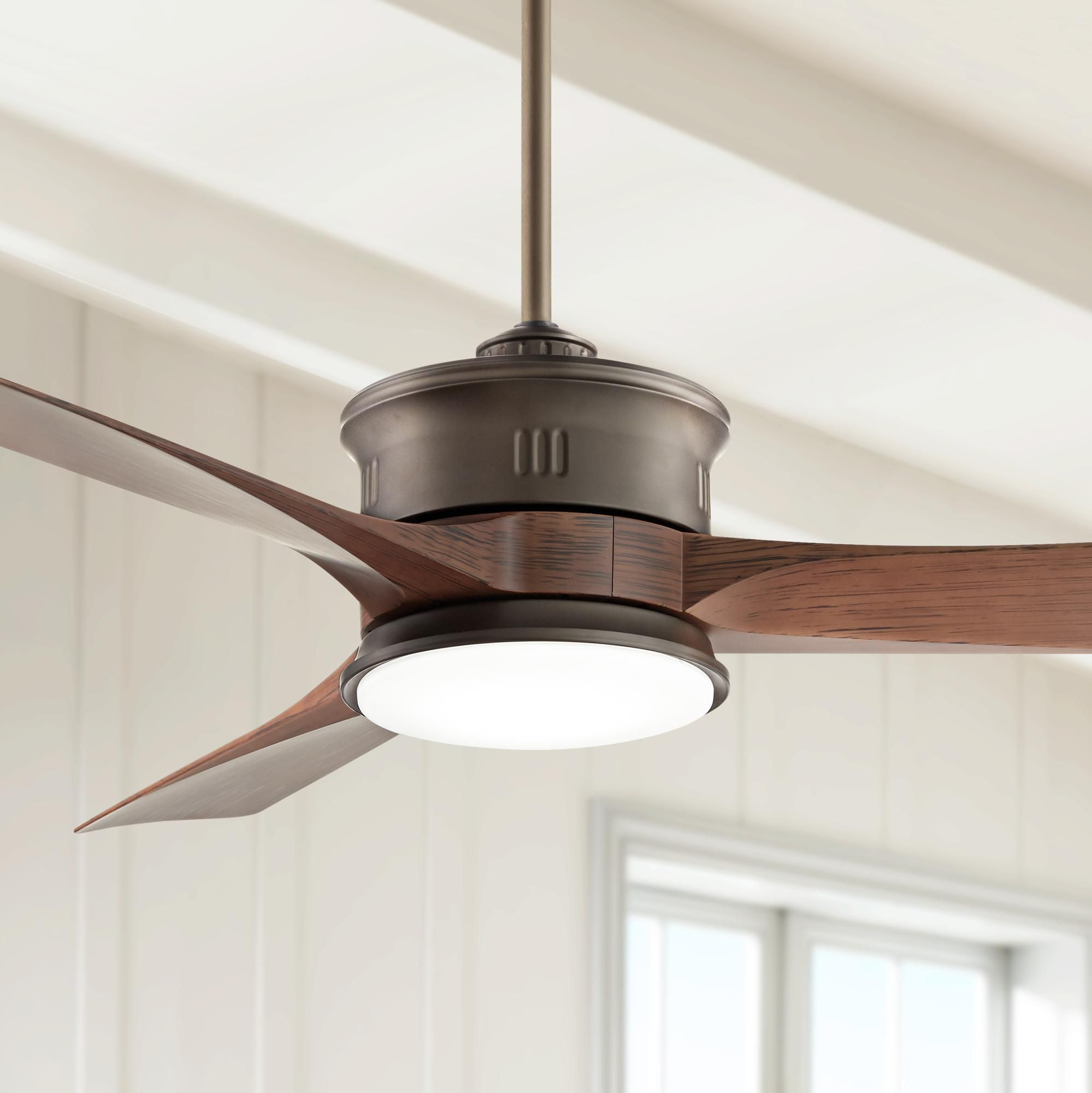 Ceiling Fans 54 Key West Bronze Wet Rated Outdoor Led Ceiling Fan In 2020 Ceiling Fan Led Ceiling Fan Traditional Ceiling Fans