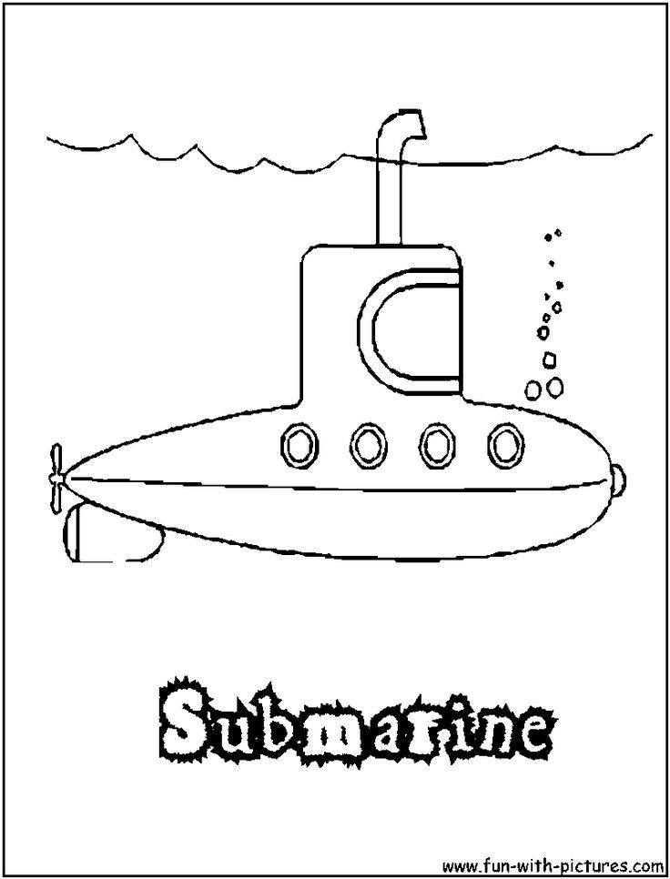 Submarine Craft Coloring Page Submarines Shirts Colors Pages Paint Vehicles Stencils
