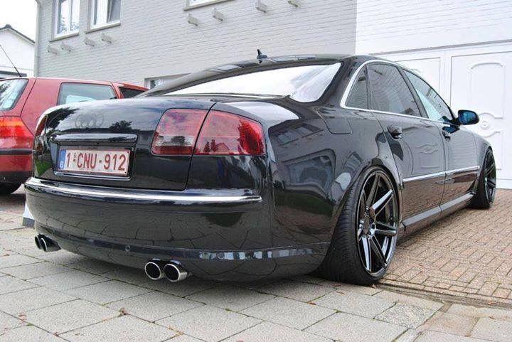 Audi A8 Modified Stance Slammed Black On Black Wheels Audi