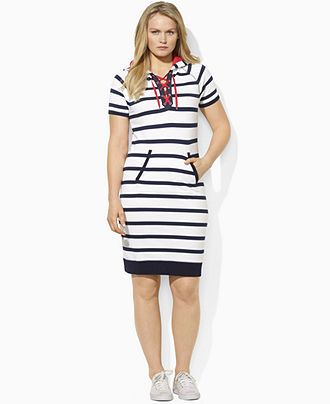 Lauren by Ralph Lauren Plus Size Dress, Chelsea Short-Sleeve ...