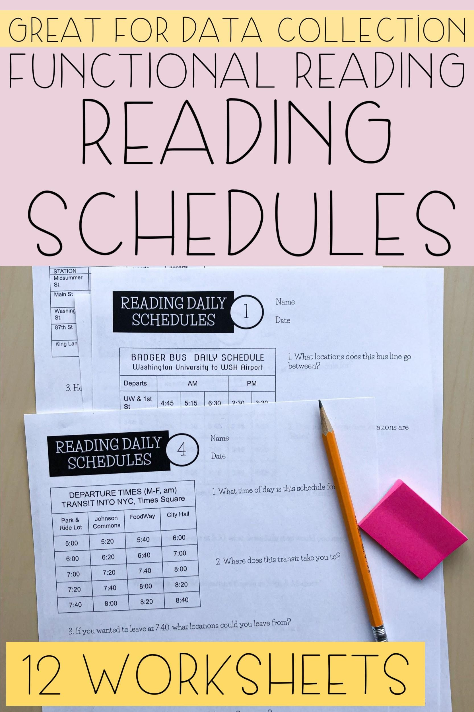 Reading Daily Schedules Worksheets Life Skills Reading Life Skills School Schedule Reading Skills Activities [ 2500 x 1666 Pixel ]