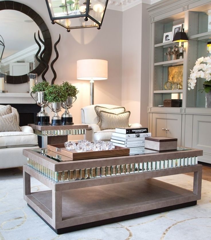 Hollywood Luxe Tiffany Mirror Shagreen Cocktail Table Luxury Interiors Designer Furniture Beautiful Home Decor Enjoy Be Inspired More