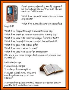 Treating your Book of Mormon like your Cell Phone. Have ...