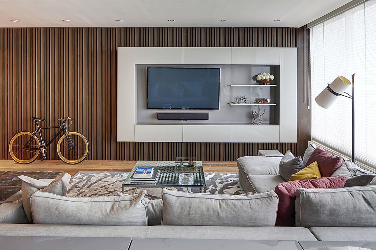 15 Fabulous Wall Tv Design Ideas For Cozy Living Room Dexorate Lounge Interiors Living Room Wall Tv Room Design