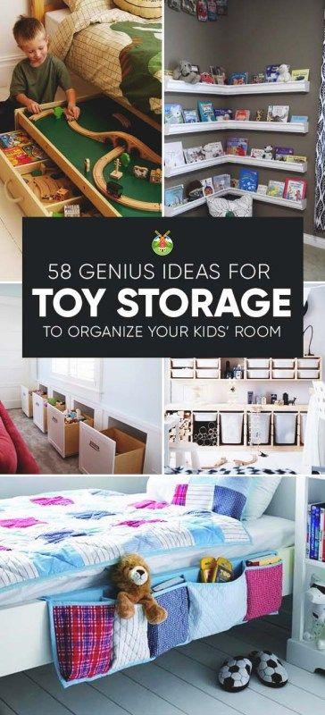 58 Genius Toy Storage Ideas & Organization Hacks for Your Kids Room