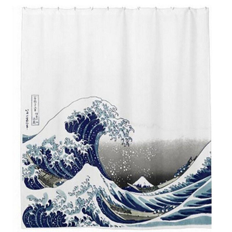 Sea Scenic Bathroom Printed Shower Curtains Waterproof Bath Curtains ...