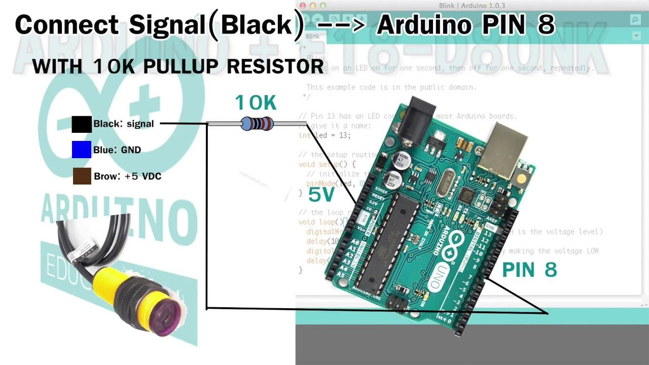 Infrared E18-D80NK with Arduino sensor tutorial | Arduino