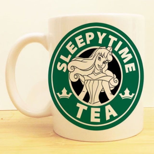 Sleeping Beauty Coffee Mug Aurora Sleepytime Tea Starbucks Disney Princess