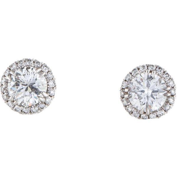 Pre Owned 18k Diamond Stud Earings 2 775 Liked On