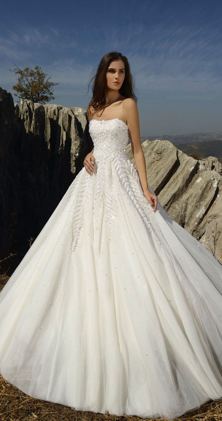 Breathtaking wedding dress with graceful elegance