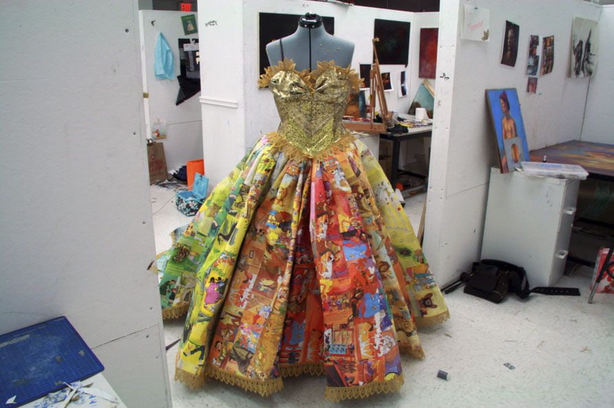 A Cinderella gown made from the pages of children's books. Brilliant & Beautiful! #repurposed