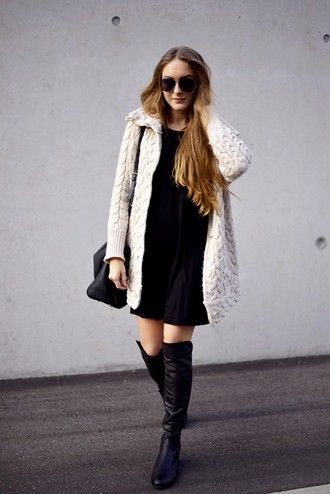 by annna blogger cardigan dress bag shoes