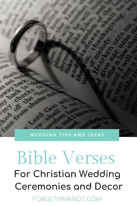 Photo of Bible Verses for Christian Weddings and Decor – Forget Him Knot