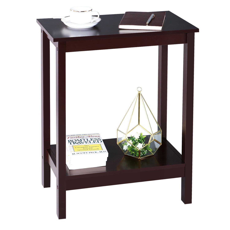 songmics side end nightstand simplistic narrow bedside
