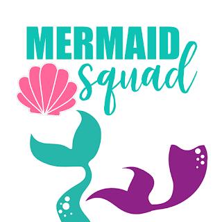 Mermaid Sea Themed Free Svgs Mermaid Squad Little Mermaid Font Mermaid Svg