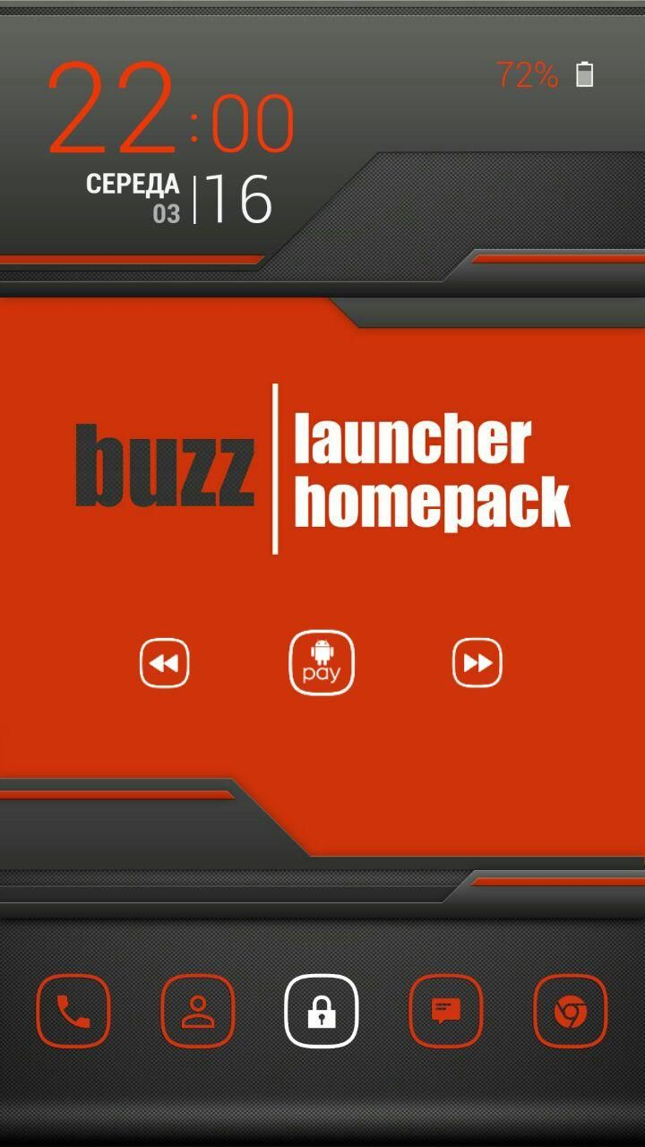 Seryoga Homuk S Homepack With Buzz Launcher A Single Touch Of A Button And On My Homescreen