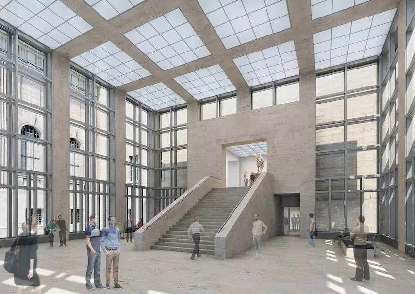 Frankischer Muschelkalk Als Verkleidung Im Neuen Eingang Des Berliner Pergamonmuseums Muschelkalk Architektur Natursteine