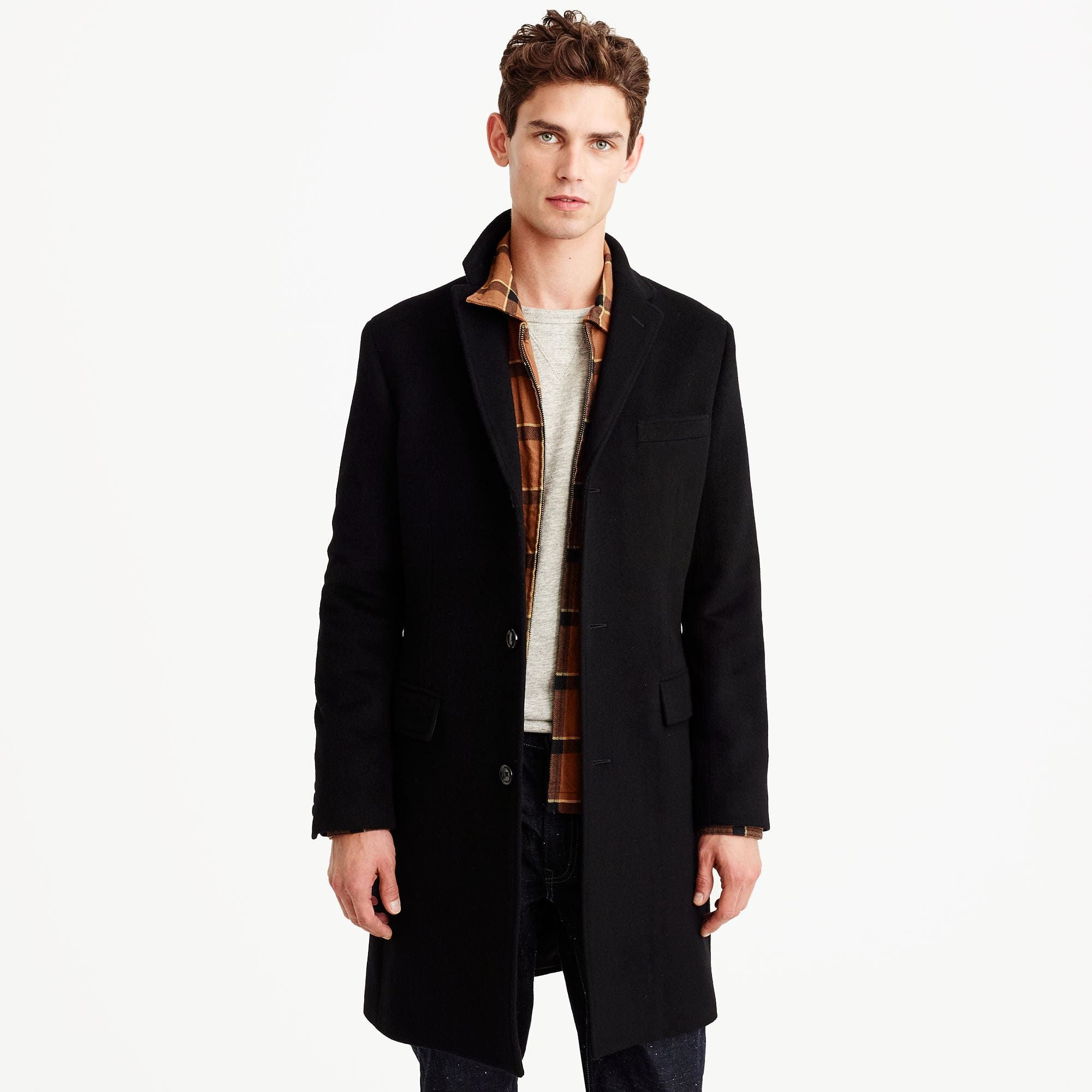 5831a43acfb Ludlow topcoat in wool-cashmere with Thinsulate®