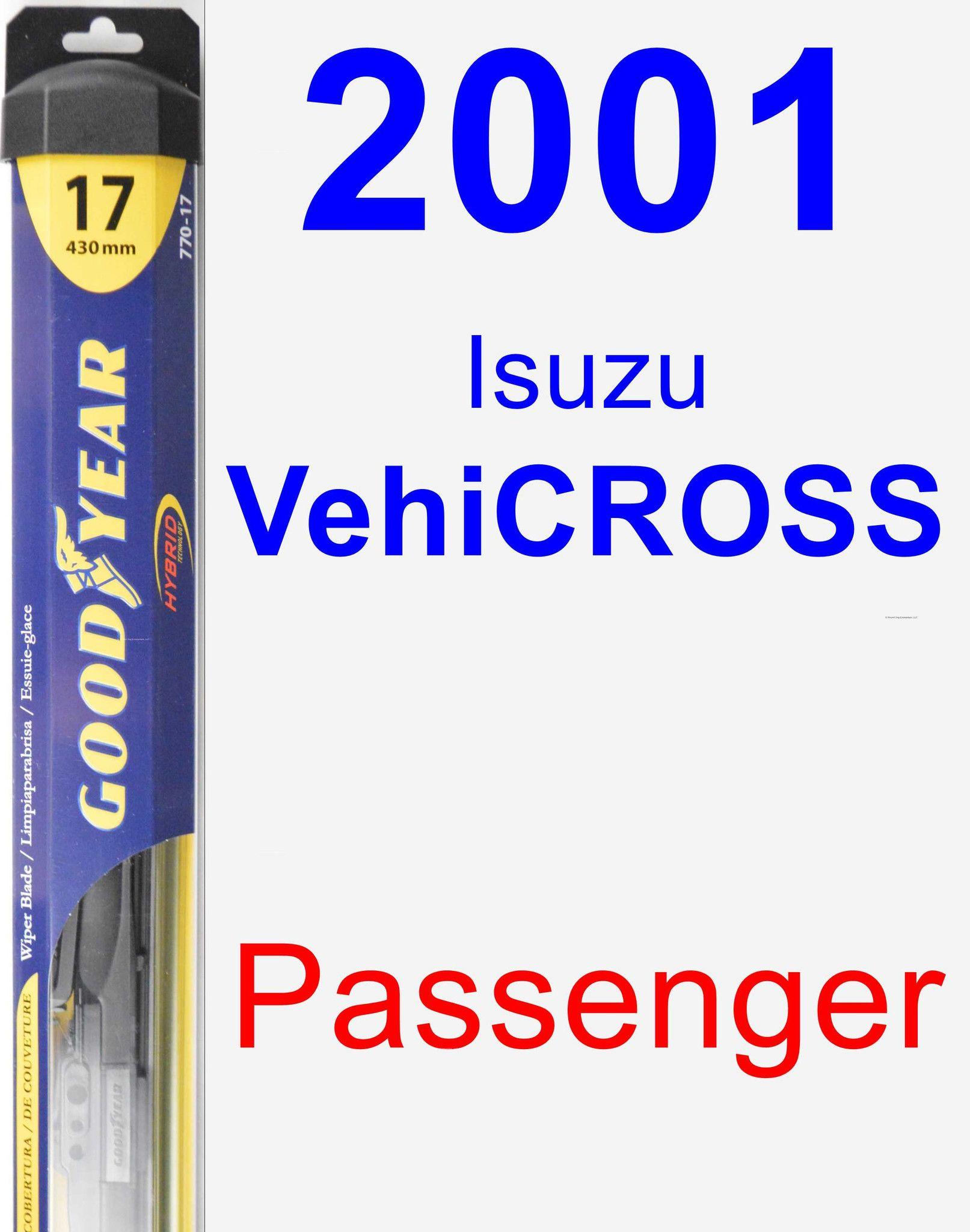 Passenger Wiper Blade for 2001 Isuzu VehiCROSS - Hybrid