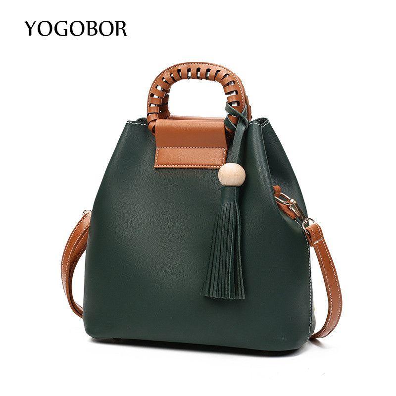 3c60038f21 2017 Famous Brand Designer Tassel Pu Leather Tote Women Bag Women Shoulder  Messenger Handbags Ladies Crossbody Bags