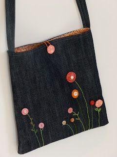 bolso de mezclilla con botones vintage  – Bolsa