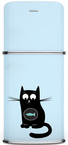 Kudu Original Fridge (Refrigerator) Magnetic Panel: Decorative Magnet: Fishy Cat http://cgi.ebay.com/ws/eBayISAPI.dll?ViewItem=330901678174=STRK:MESE:IT