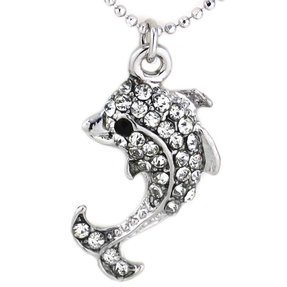 Clear stone dolphin sea animal pet charm anklet fashion summer
