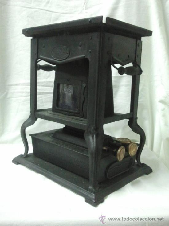 Antigua estufa calentador de petróleo Bruleur FV Azurea (Antigüedades - Técnicas - Rústicas - Utensilios del Hogar - Estufas Antiguas)