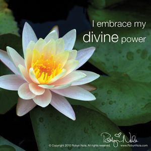 I embrace my divine power