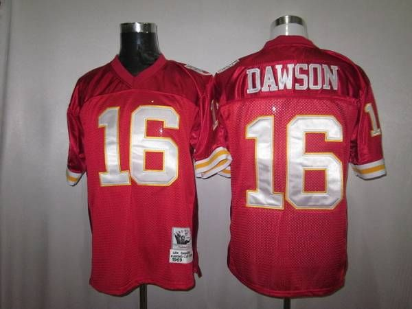 cheap for discount d06ec 08c55 Mitchell And Ness Chiefs #16 Len Dawson Red Stitched ...