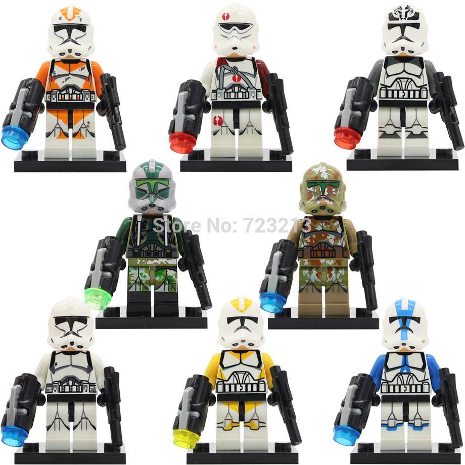 Star Wars Abbildung Weiß Klon Soldaten Wolf Pack Klon Gelb Utapau