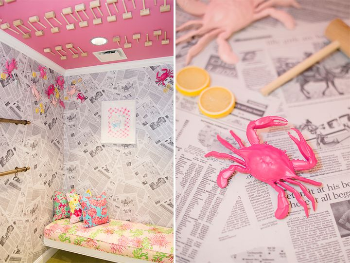 Lilly Pulitzer Dressing Room Adorned With Maryland Crabs