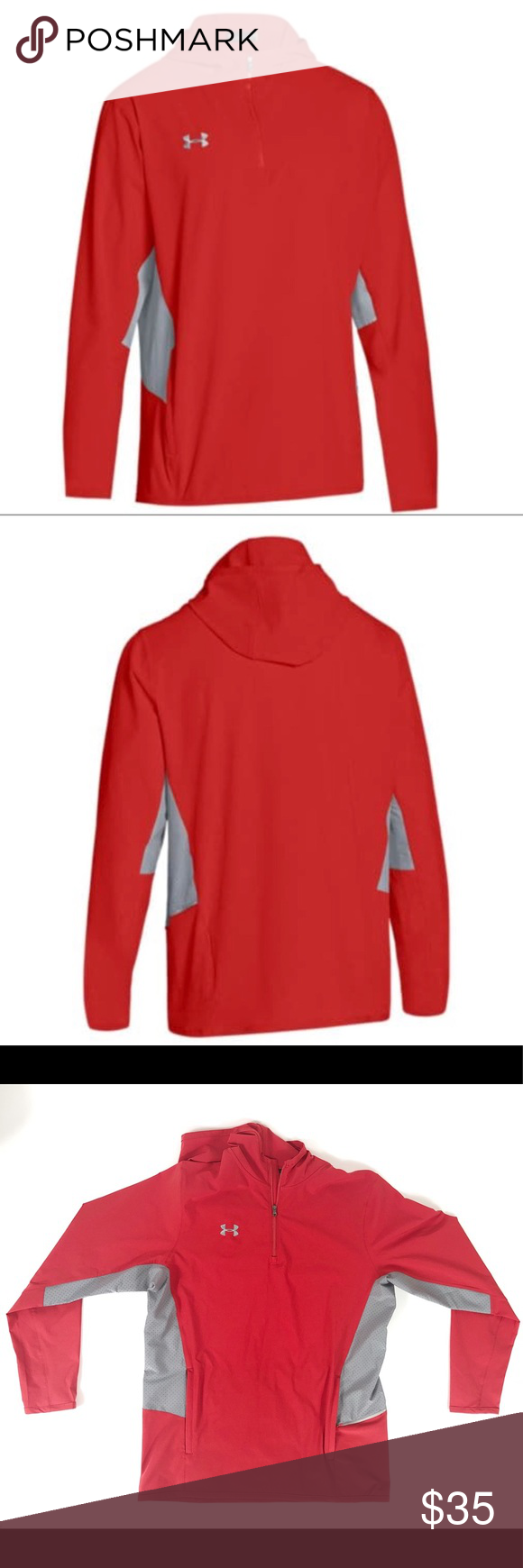 Under Armour Mens Squad Woven 1//4 Zip
