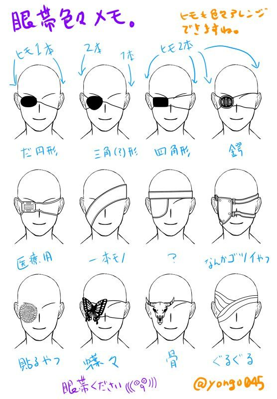 Anime Eye Patch Drawing Google Search Art Reference Art Sketches Art Reference Photos