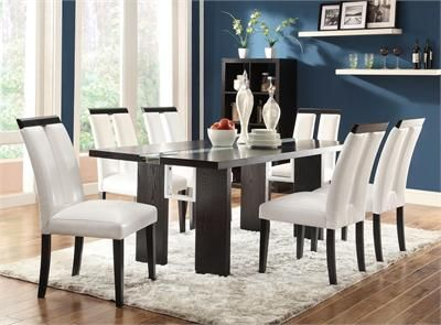 marshall modern black white dining table set contemporary dining rh pinterest com