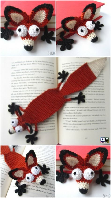 Crochet Amigurumi Fox Bookmark Pattern | crochet it | Pinterest ...